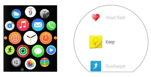 Apple Watch vs. Android Wear: UI comparison