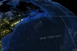 North Atlantic Air Traffic Time-Lapse Video