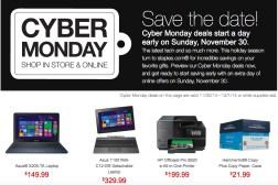 Staples Cyber Monday 2014 Sales