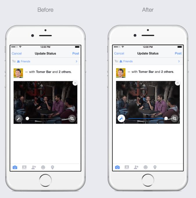 Facebook Automatically Enhance Mobile Photos