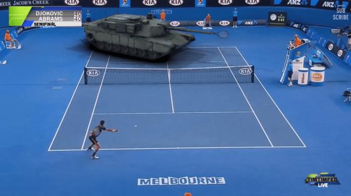 Djokovic Vs. Tank Video
