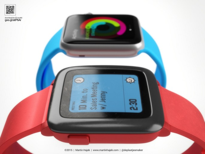 Apple Watch vs. Pebble Time