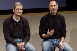 Steve Jobs and Tim Cook