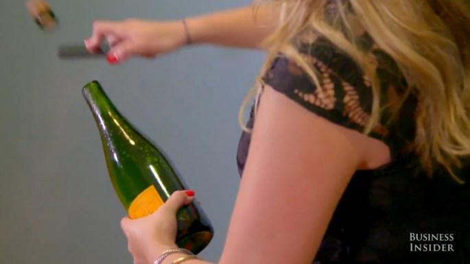 iPhone Trick Saber Bottle Champagne Video
