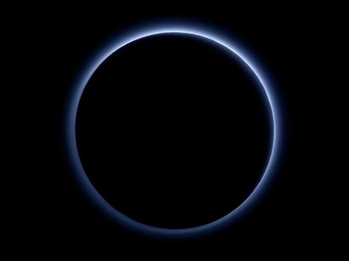 Pluto Blue Sky Frozen Water