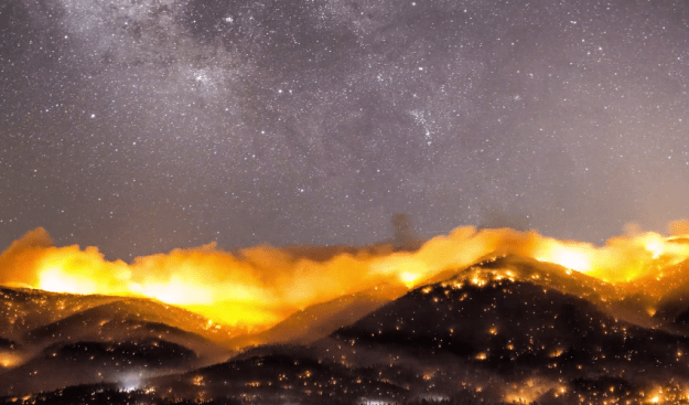 4K Forest Fire Timelapse Video