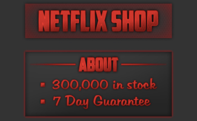 Netflix passwords are going for $0.25 on the black market