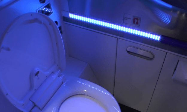 Boeing Self Cleaning Bathroom Video