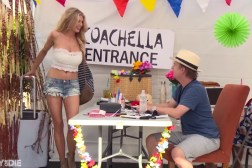 Coachella David Spade Charlotte McKinney