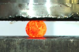 Hydraulic Press Red Hot Nickel Ball