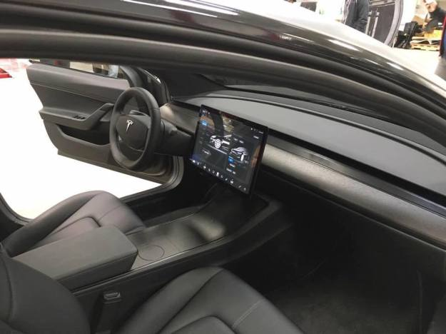 Leaked photos show off the Tesla Model 3's beautiful interior