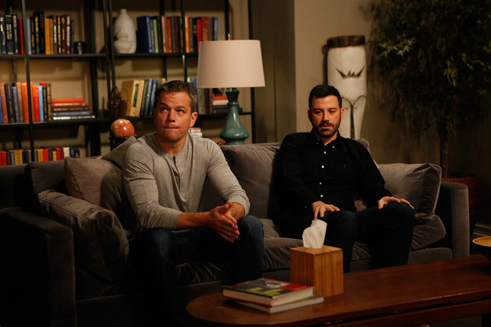 Jimmy Kimmel, Matt Damon draw out their feelings in 'couples therapy'