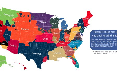 facebook data shows nfl fandom by counties throughout