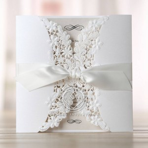 Admirable Ivory Laser Cut Floral Wrap Wedding Invitation Hb11646 Wedding Invitations Designs Wedding Invitations Templates