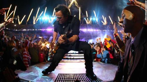 Springsteen and the E Street Band perform at Super Bowl XLIII on February 1, 2009, in Tampa.