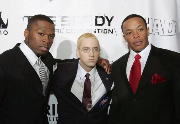 50 Cent, Eminem and Dr Dre