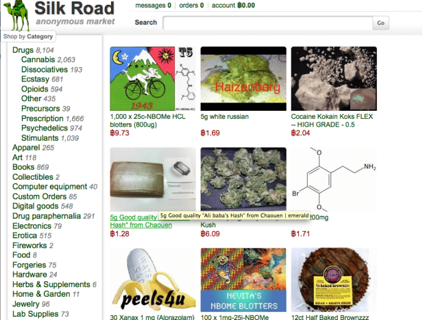 Silk Road Before Being Shut Down