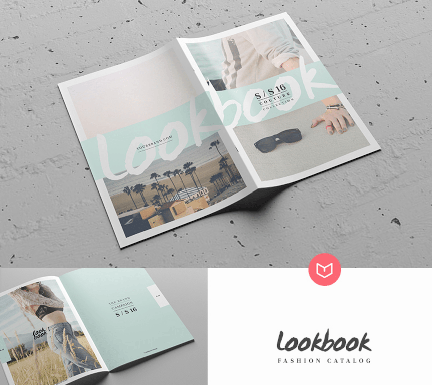 Top 33 Magazine PSD Mockup Templates in 2018   Colorlib Lookbook Catalog Template