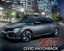 Honda Vehicle Brochures   Larry Hopkins Honda     Honda 2017 civic hatchback Brochure