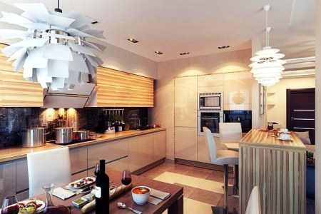 modern chic kitchen lighting ideas