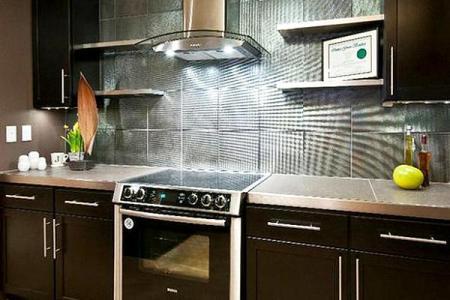 metalic kitchen backsplash design ideas