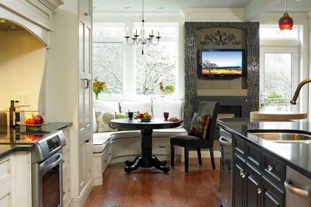 corner breakfast nook design idea contemporary kitchen decor vancouver