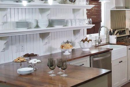country cottage white kitchen design