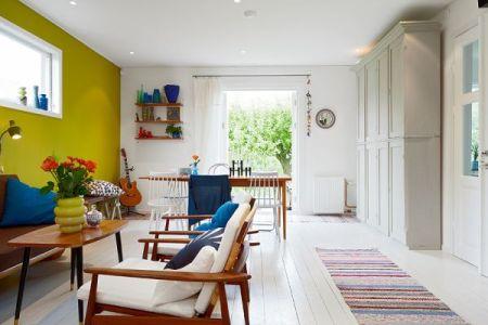 nordic interior design idea for a vint contemporary home