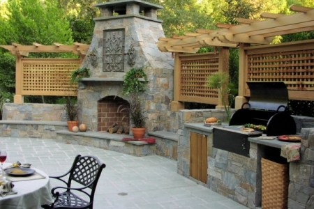 fireplace and outdoor summer kitchen e1347569397117