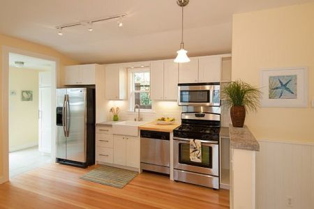 cottage remodel beautiful clean lines kitchen