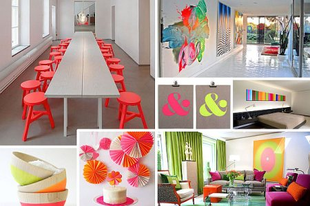 neon interior design ideas