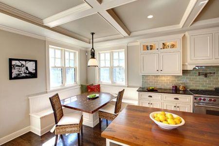 kitchen coffered ceiling design