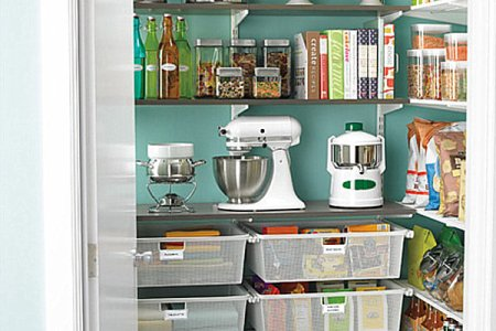 walk in pantry storage solution