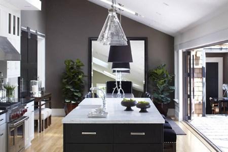 grey and white kitchen design