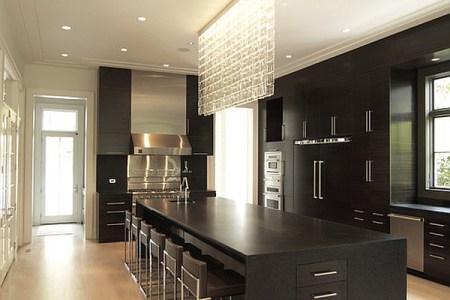 minimalist kitchen island with seating options