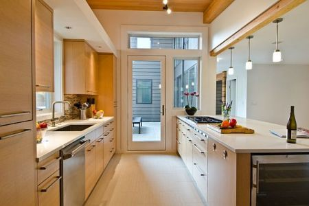 modern galley kitchen