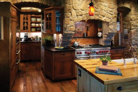 rustic kitchen design with a rugged feel