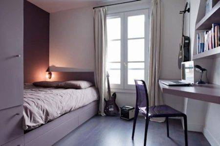 simple and stylish space in purple