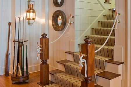 rope mirrors and oars all play a pivotal role in bringing the nautical appeal