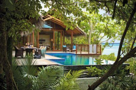 treehouse villa and pool at the shangri la in maldives