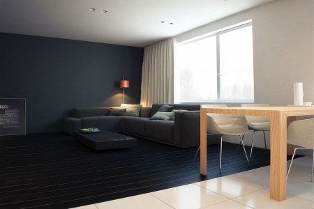 stunning minimalist living room of the q2 apartment