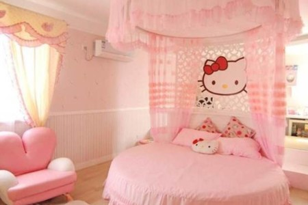 o kitty little girls bedroom decorating ideas