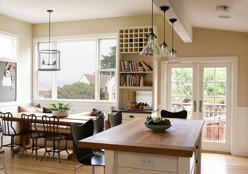 Farmhouse Style Interiors  Ideas  Inspirations View in gallery Kitchen and dining room bring together the vintage and the  modern