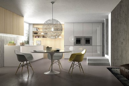 clic decor additions and smart lighting shape small dining area in the kitchen
