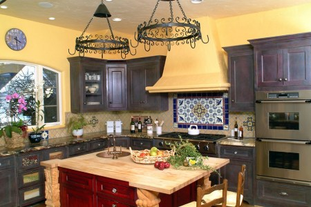 colorful kitchen with a hint of spanish flavor