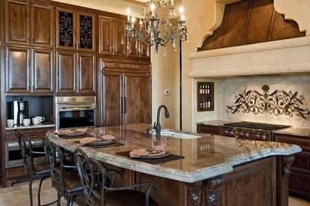 mediterranean kitchen with a touch of luxury