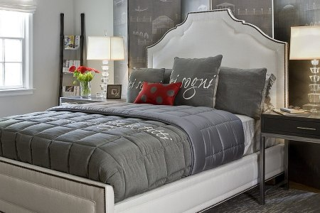 polished pion 19 dashing bedrooms in red and gray!