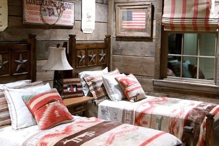 americana meets rustic style inside this kids bedroom