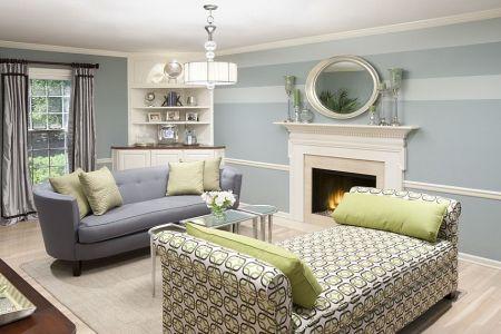 lovely light blue and white bring elegance to the living room