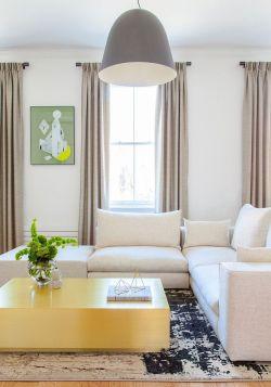 Inspirational Chelsea Apartment Living Room Interiors Living Room Photos Interior Living Room Minimalist Oversized Pendant Custom Brass Coffee Table